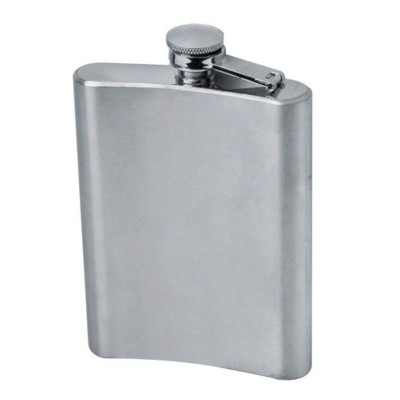 Picture of KANSAS CITY SILVER STAINLESS STEEL METAL HIP FLASK in Silver