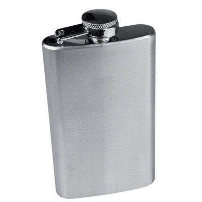 Picture of FRESNO SILVER STAINLESS STEEL METAL HIP FLASK in Silver
