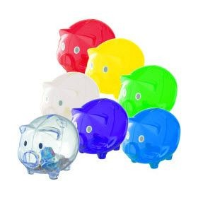 Picture of LEICESTER MONEY BOX PIGGY BANK in Blue