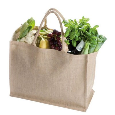 Picture of HANNOVER JUTE SHOPPER TOTE BAG in Brown