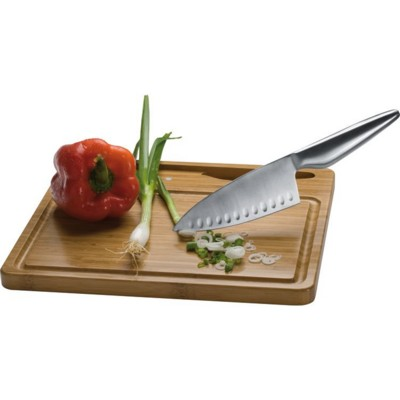 Picture of MANTOVA CHOPPING BOARD with Knife in Brown