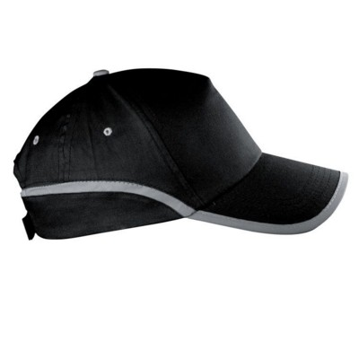 Picture of DALLAS 5 PANEL REFLECTIVE BASEBALL CAP in Black