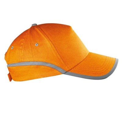 Picture of DALLAS 5 PANEL REFLECTIVE BASEBALL CAP in Orange