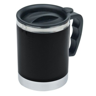 Picture of OKLAHOMA CITY SILVER STAINLESS STEEL METAL THERMAL INSULATED THERMO CUP in Black