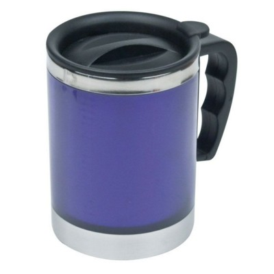Picture of OKLAHOMA CITY SILVER STAINLESS STEEL METAL THERMAL INSULATED THERMO CUP in Blue