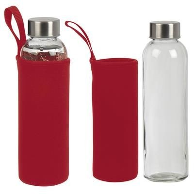 Picture of GLASS BOTTLE KLAGENFURT in Red