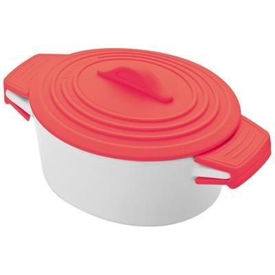 Picture of DELHI PORCELAIN POT with Silicon Lid in Red