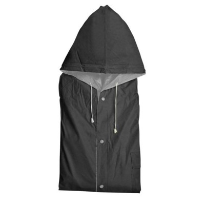 Picture of NANTERRE TURN-OVER RAIN COAT in Black & Silver