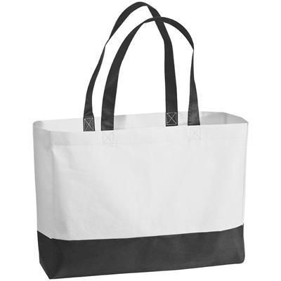 B2B Promotion Skin Site. ZAGREB NON WOVEN BAG in White