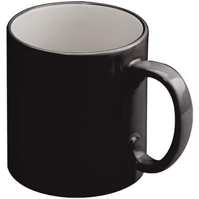 Picture of LISSABON CERAMIC POTTERY CUP in Black