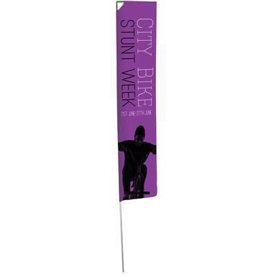 Picture of LIGHT EDGE FLAG with Single Sided Graphic - Ground Spike