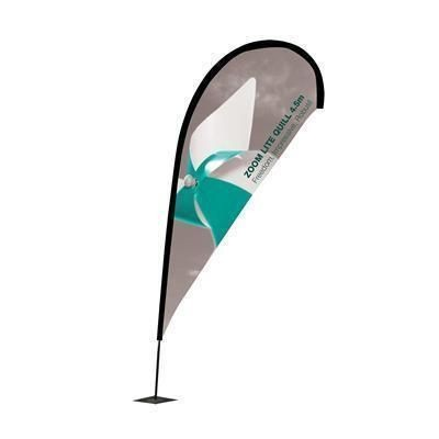 Picture of LIGHT TEAR DROP FLAG with Single Sided Graphic - No Base