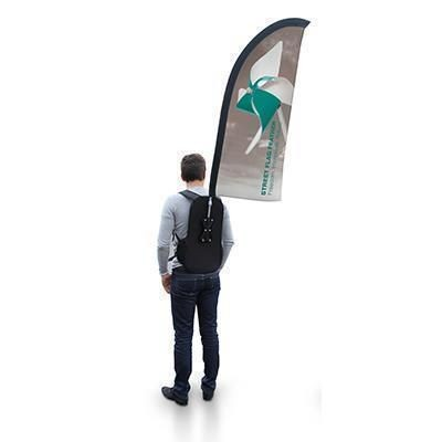 Picture of STREET FLAG BACKPACK RUCKSACK FLAG - FEATHER