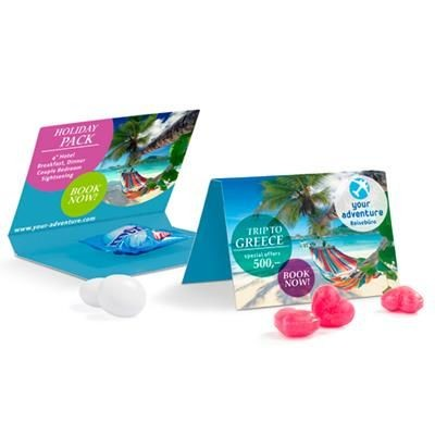 Picture of PROMOTION CARD MENTOS CHEWY CANDY SINGLE OR HEART SWEETS
