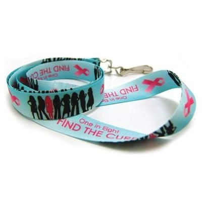 Picture of BREAST CANCER AWARENESS DIGITAL SUBLIMATED LANYARD