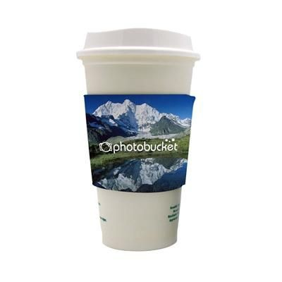 Picture of FULL COLOUR REUSABLE COFFEE COSY
