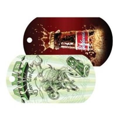 Picture of FULL COLOUR PLASTIC BALL CHAIN DOG TAG