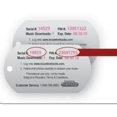 Picture of FULL COLOUR PLASTIC DOG TAG with Variable Data