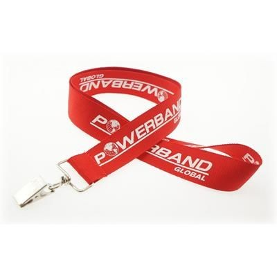 Picture of 1 INCH SILKSCREENED FLAT LANYARD with Bulldog Clip