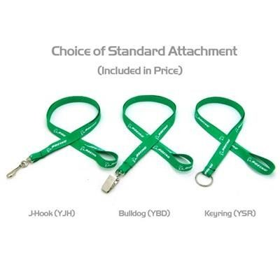 Picture of 1 - 2 INCH SILKSCREENED FLAT LANYARD with Keyring