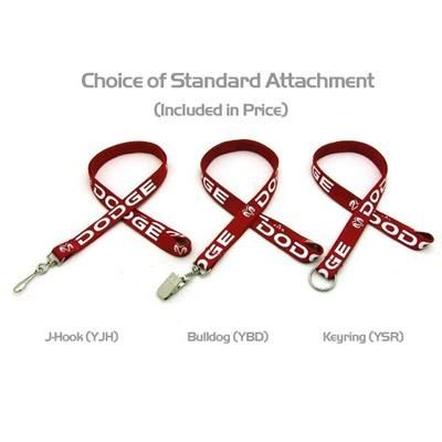 Picture of 5 - 8 INCH SILKSCREENED TUBULAR LANYARD with J Hook