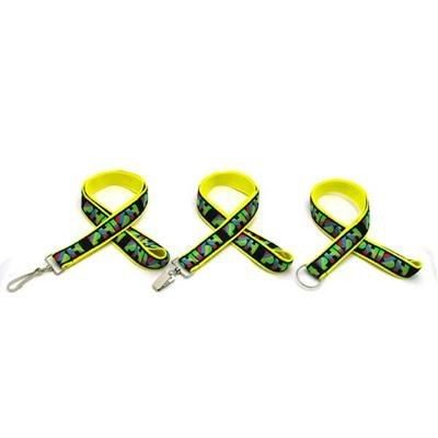 Picture of 1 INCH WOVEN LANYARD with Bulldog Clip