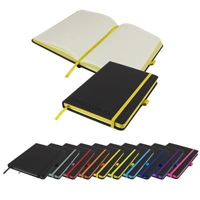 Picture of EMBOSSED DENIRO EDGE A5 LINED SOFT TOUCH NOTE BOOK