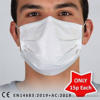 UK STOCK SURGICAL FACE MASK 3PLY
