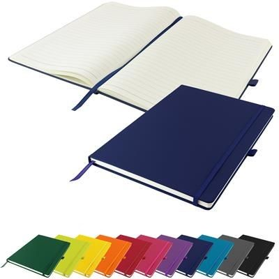 Picture of FULL COLOUR DUNN A4 PU SOFT FEEL LINED NOTE BOOK 196 PAGES in Blue