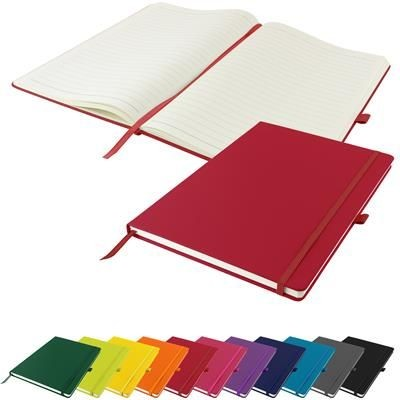 DUNN A4 PU SOFT FEEL LINED NOTE BOOK 196 PAGES in Red