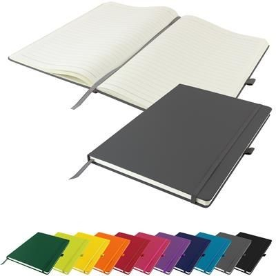 Picture of DUNN A4 PU SOFT FEEL LINED NOTE BOOK 196 PAGES in Grey