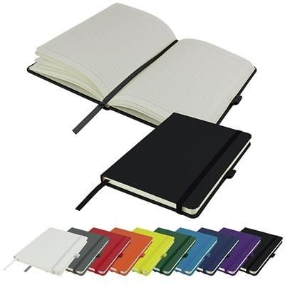 Picture of DIMES A5 LINED SOFT TOUCH PU NOTE BOOK 196 PAGES in Black