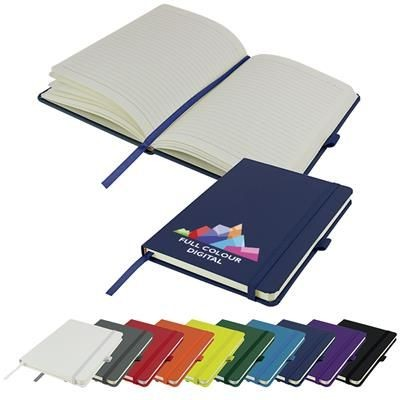 Picture of FULL COLOUR PRINTED DIMES A5 LINED SOFT TOUCH PU NOTE BOOK 196 PAGES in Navy