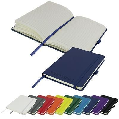 Picture of EMBOSSED DIMES A5 LINED SOFT TOUCH PU NOTE BOOK 196 PAGES in Navy
