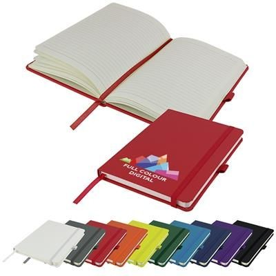 Picture of FULL COLOUR PRINTED DIMES A5 LINED SOFT TOUCH PU NOTE BOOK 196 PAGES in Red