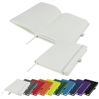 Picture of DIMES A5 LINED SOFT TOUCH PU NOTE BOOK 196 PAGES in White