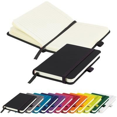 Picture of MORIARTY A6 LINED SOFT TOUCH PU NOTE BOOK 196 PAGES in Black