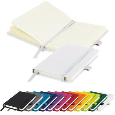 Picture of MORIARTY A6 LINED SOFT TOUCH PU NOTE BOOK 196 PAGES in White