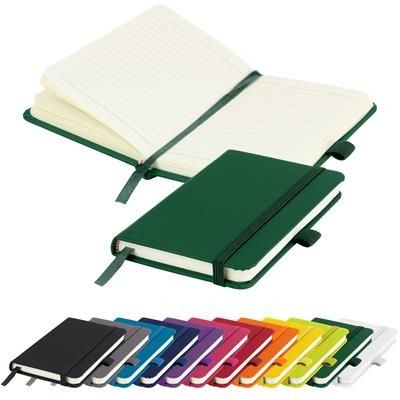 Picture of EMBOSSED MORIARTY A6 LINED SOFT TOUCH PU NOTE BOOK 196 PAGES in Green