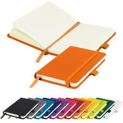 Picture of FULL COLOUR PRINTED MORIARTY A6 LINED SOFT TOUCH PU NOTE BOOK 196 PAGES in Orange
