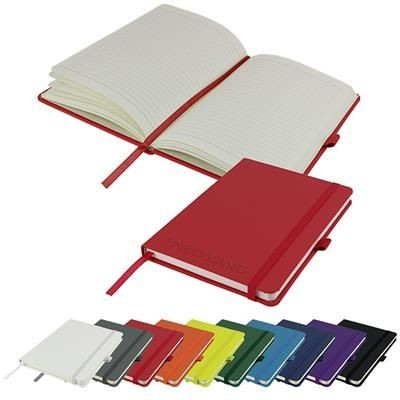 Picture of EMBOSSED A5 PU DIMES NOTE BOOK in Red