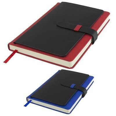 Picture of BABBAGE A5 EXECUTIVE PU NOTE BOOK 256 PAGES in Red