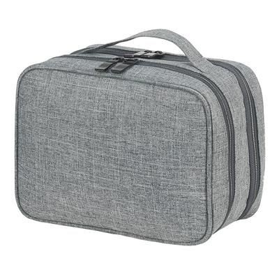 Picture of SEVILLE ACCESSORIES AND TOILETRY POUCH in Pale Grey Mélange