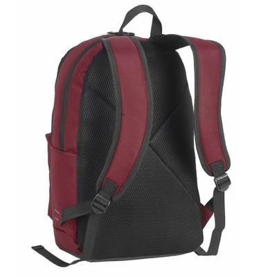 Picture of PLYMOUTH STUDENTS BACKPACK RUCKSACK in Bourdeaux & Black