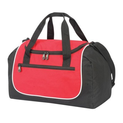 Picture of RHODES POLYESTER SPORTS BAG HOLDALL in Red & Black