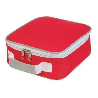 Picture of SANDWICH LUNCH BOX in Red & Pale Grey