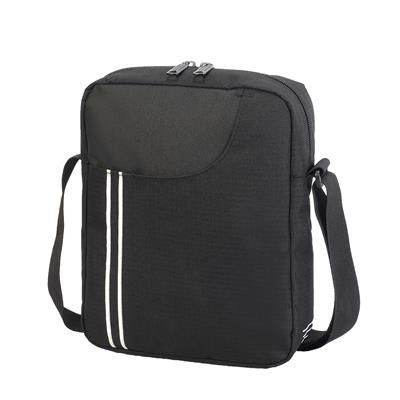 Picture of RENNES MESSENGER POUCH in Black & White