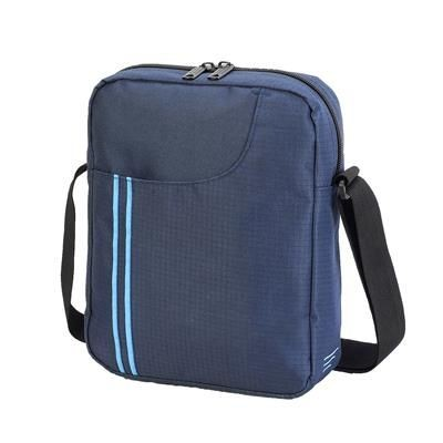 Picture of RENNES MESSENGER POUCH in French Navy & Turquoise