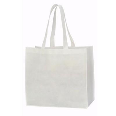Picture of LYON NON WOVEN SHOPPER TOTE BAG in White