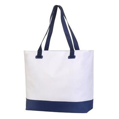 Picture of BURMOOS WELLNESS LEISER BAG in White & French Navy